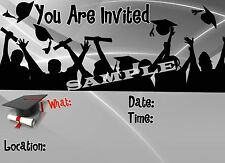 Graduation Party Invitations with matching envelopes, 12 Pack