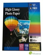 "150 Sheets High Premium Glossy Inkjet Photo Paper 8.5""x11"" Letter Size - 150gsm"