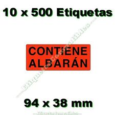 1000 ETIQUETAS ADHESIVAS BLANCAS PREIMPRESAS DE ENVIO 105x57mm 100 HOJAS