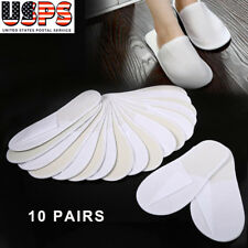10 Pairs Spa Hotel Guest Slippers Travel Portable Shoes Disposable Comfortable