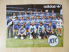 Großes altes Poster Karlsruher SC 1982 mit Autogramme