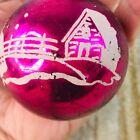 """vtg SHINY BRITE? stenciled mercury glass ball christmas tree ornament 2.5"""""""