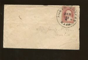 1857 United States Postage Stamp #25A Used On Cover Position 8R5L APS Certified
