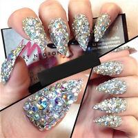Mixed Nail Art 3D Glitter Rhinestones Diamond Gems Tips DIY Decoration Wheel PR