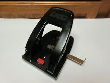 Vintage Punchodex P 200 2 Hole Punch Steel Metal Used Ship Free
