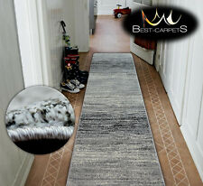 Very Thick Hall Runner SHADOW 8622 Width 80-120cm extra long Soft Densely RUGS