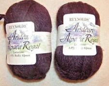 2 SKEINS-- Reynolds Andean Alpaca Regal -Bulky 3 ply -- #158 PURPLE  220 yds