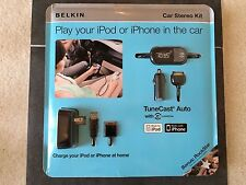 Belkin Tunecast Auto for iPod and iPhone with Rockstar Headphone Splitter New