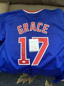 Mark Grace Autographed Chicago Cubs Jersey XL JSA COA