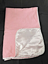 Baby Emporio Pink & White Flannel Soothys Baby Blanket Satin Backing