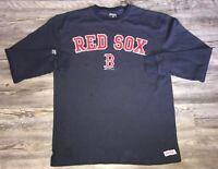 Men's Boston Red Sox MLB Thermal Long Sleeve Shirt Size Large Blue