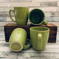 Corelle, Corning Ware (Set of 4) Lime Green, Stoneware 12 oz Coffee Tea Mug EUC