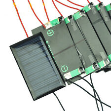 10Pcs Solar Panel 5V 30mA Solar Sun Cells welded with cable 7cm Battery Charger