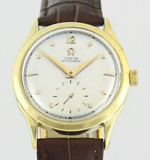 OMEGA Automatic All Swiss Solid 14Kt Gold Cal 342 Mens Wrist Watch 1948