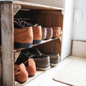 1 Rustic Wood Shoe Rack Stand Storage Cabinets Cupboards Organiser Display Unit