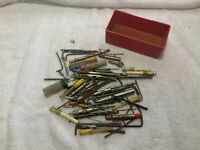 Vintage Odd Lot from Machinists tool box Drill Bits Hex Keys etc..75+ pieces