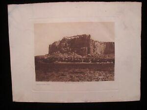 "Edward S. Curtis Print/""The Enchanted Mesa""/Original"