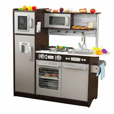Kidkraft 53388 Uptown Espresso Kitchen with 30 Piece Play Food