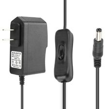 AC 100V-240V to DC12V 1A 12W Universal Power Supply Adapter 5.5x2.1mm w/ Switch