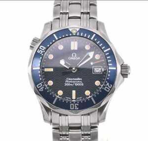 OMEGA Seamaster 300 2561.80 Stainless steel Blue Dial Quartz men's wristwatch