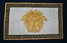 "Gianni Versace, MEDUSA, Vintage Black Trim Carpet Bathroom Floor Mat, 49"" x 31"""