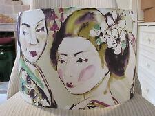 Handmade Drum Lampshade Prestigious Kimono Mulberry fabric 40cm - Stunning!!!