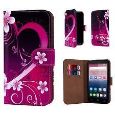 "32nd Design Book PU Leather Case Cover for Alcatel PHONES Screen Protector Love Heart Alcatel Pixi 4 (5.0"") 4g"