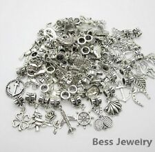 30pcs Tibetan Silver Hole Loose Beads Arrow Bow Charms Bracelets Jewelry JWBD035