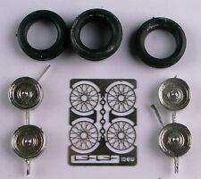 1/43e: jeu de 4 roues à rayons Idem diamètre jante: 12mm