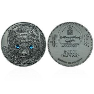 Sable Copper Coin Mongolia Animal Challenge Metal Coins Souvenir for Collection