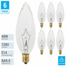 Box of 10 Bulbs 6T5.5 Incandescent 6 Watt 24V T-5 1//2 E14 Intermediate Base
