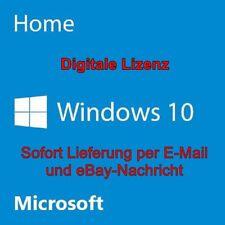 Microsoft Windows 10 Home 64 bit 32 bit Key Vollversion Lizenz Deutsch