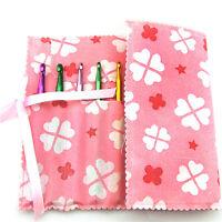 Pink Knitting Needle Crochet Hook Organizer Bag Pouch Holder Storage-CASE