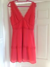 NWOT The Kooples lace trim red dress, size L