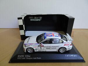Minichamps BMW 320si, WTCC Champion 2006, A. Priaulx, Nr. 1, M 1:43, OVP