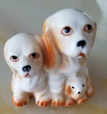 Cocker Spaniel Family Figurine by Genuine Bone China Taiwan