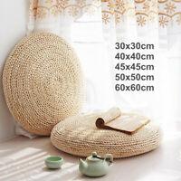 Round Weave Handmade Pillow Floor Yoga Seat Mat Tatami Cushion