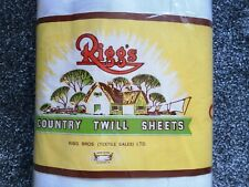 More details for never opened-vintage riggs country twill cotton sheets double 90
