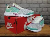 NIKE UK 5.5 EU 38.5 WHITE GREEN PURPLE PRESTO BR TRAINERS GIRLS LADIES CHILDRENS