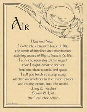 AIR EVOCATION  A4 SIZE POSTER  Wicca Pagan Witch Goth BOOK OF SHADOWS PAGE