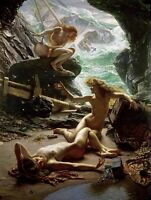 """HD Print The Cave of the Storm Nymphs Oil painting Printed on canvas 16X24"""" P428"""