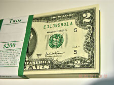 One of 2003 $2 US two dollar bill note consecutive #