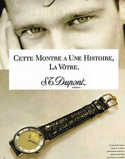 PUBLICITE ADVERTISING 014   1989   DUPONT    montre