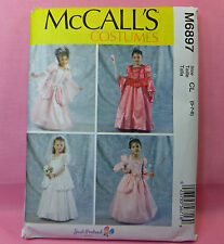 McCall's 6897 Costume Pattern Princess Gown Formal Long Dress 4 Looks Child  6-8
