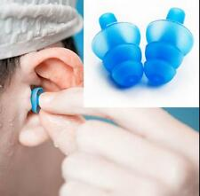 1 Pair Silicone Ear Plugs Anti Noise Snore Earplugs Study Sleep Comfortable New
