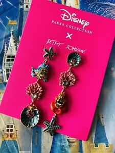 2020 Disney Parks Betsey Johnson The Little Mermaid Collection Dangle Earrings