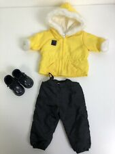 Genuine American girl Doll. Ski Outfit. Retired. VGC. Yellow And Black.