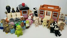 vtg Maple Town Express Train Calico Critters & Lil Woodzeez 21 Figures Toys