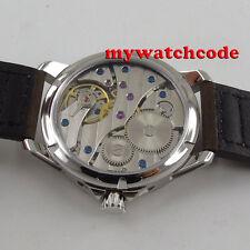 45mm corgeut black dial luminous sapphire glass 6497 hand winding mens watch C90