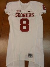 White Nike Team Issued University of Oklahoma Sooners Football Jersey #8